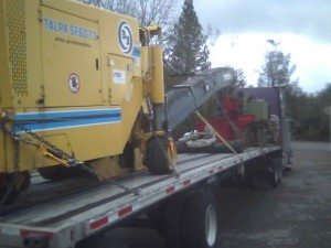 paving crusher and LTL load