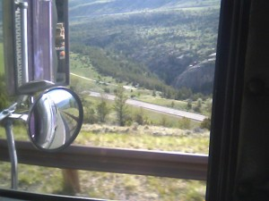 18 wheeler window photo